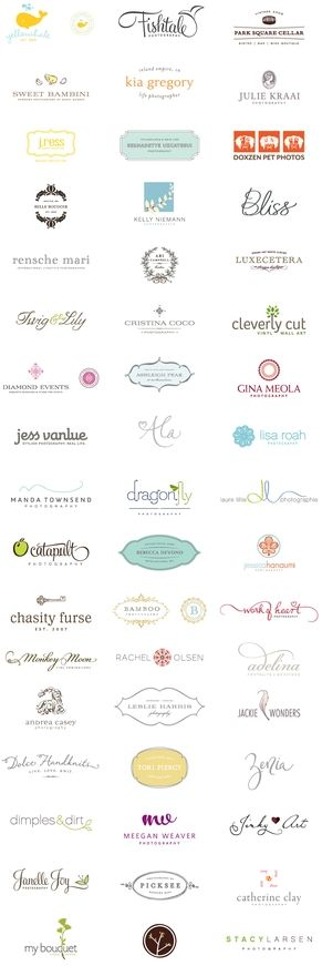 logos: Logos Inspiration, Photography Logos, Logos Ideas, Graphics Design, Feminine Logos, Business Logos Design, Girly Logos, Beautiful Logos, Logos Portfolio