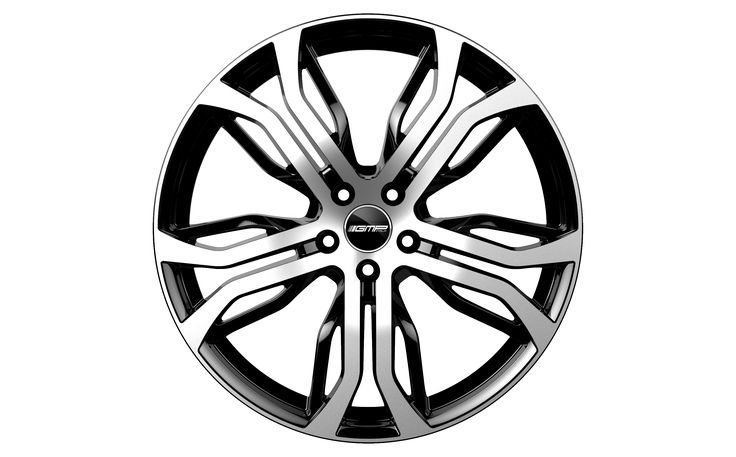 Dynamik Black Diamond Alloy wheel / Cerchio in lega leggera Dynamik Nero Diamantato Front