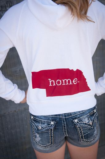 Nebraska Zip-Up Hoodie Sweatshirt #509broadway #nebraskalove