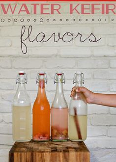 Water Kefir {flavors} - a cultured drink that is easy to make and fun to customize with various flavors!