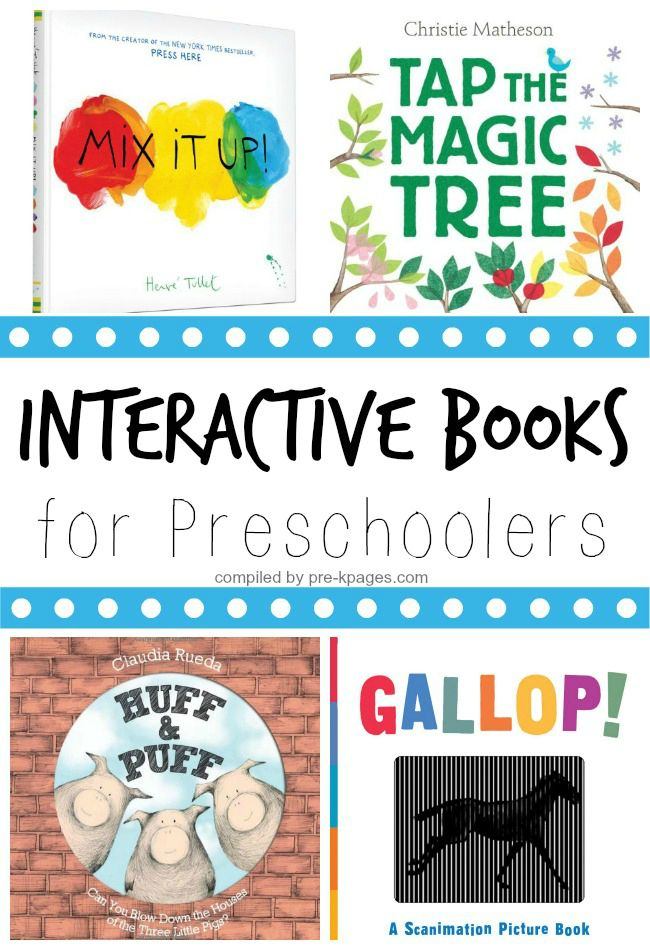 Interactive Books for Preschoolers. A list of MUST READ books that will have your kids engaged and participating throughout. They will beg to read these again and again!