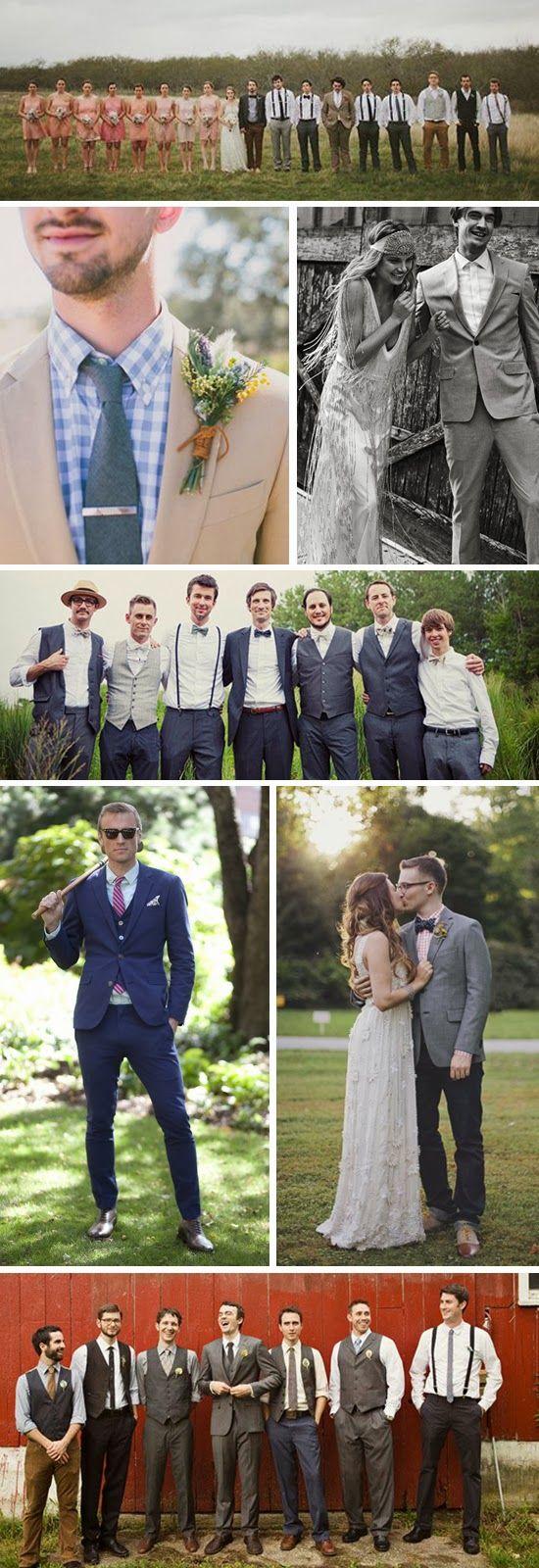 boho glam groomsmen attire