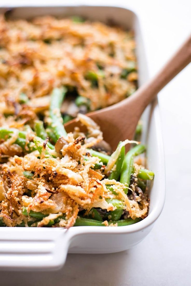 This Thanksgiving, make this Healthy Green Bean Casserole from scratch and wow your guests and your tastebuds! via @laceybaier