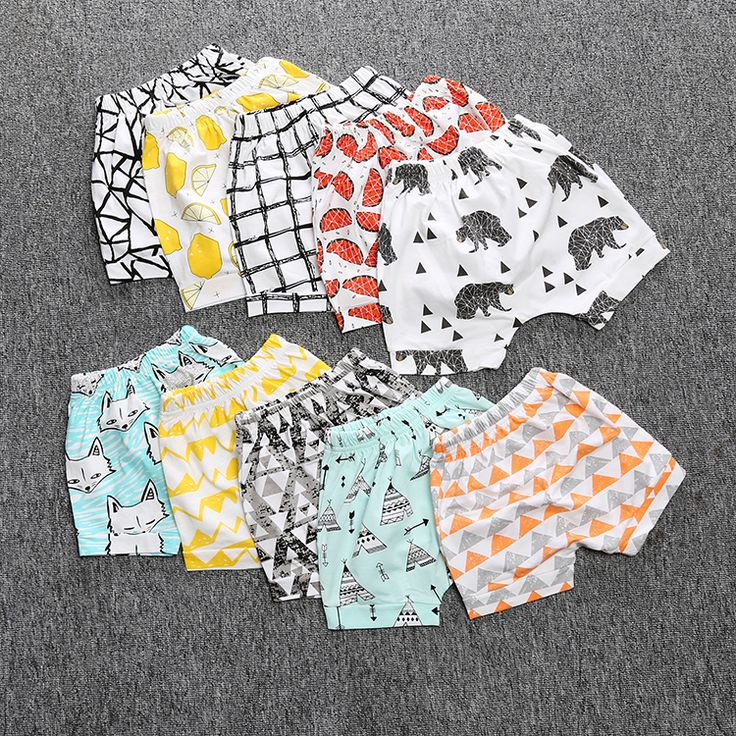 SK090  Stamps cotton kids shorts trousers 2016 summer children short pants for boys girls loose-fitting baby clothes