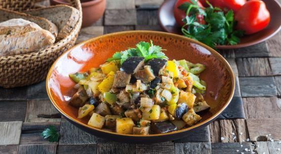 Аджапсандали, грузинское овощное блюдо, пошаговый рецепт с фото