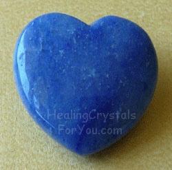 Blue Quartz heart shaped