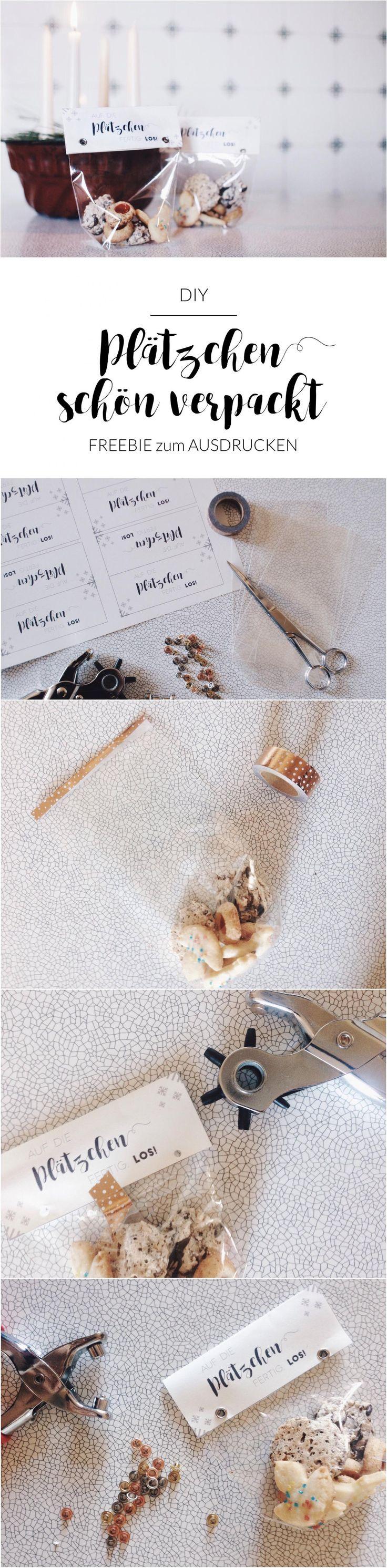DIY | Plätzchen schön verpacken zum Verschenken | Verpackung selber machen | Freebie | Printables | Plätzchen in Tüten