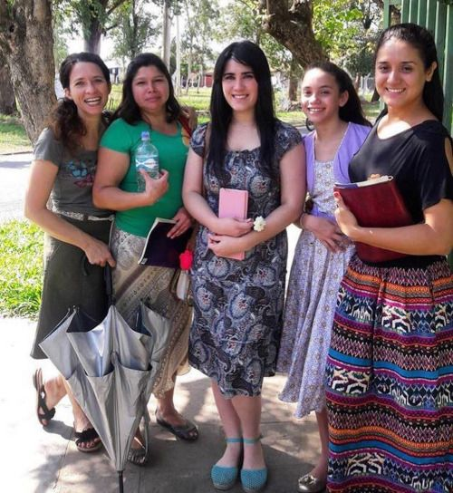 Our lovely sisters from Paraguay.