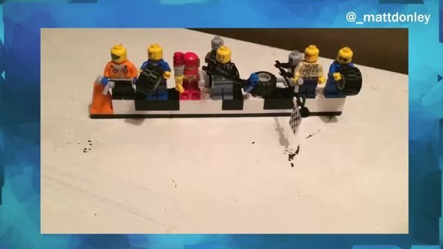 VIDEO: Paul Menard Gets Pit Stop Motion -  Paul Menard's pit crew plays with Legos.       Thanks for checking us out. Please take a look at the rest of our videos and articles.     To stay in the loop, bookmark our homepage. %url%