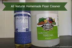 All Natural Homemade Floor Cleaner - clean, disinfect & repel bugs naturally at the same time, yes please!