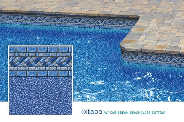So Many Pool Liners To Choose From Ixtapa W Caribbean Beachglass Bottom Pool Liners