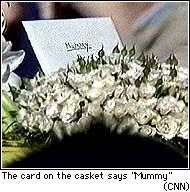 To me, one of the saddest images from Princess Diana's funeral service.