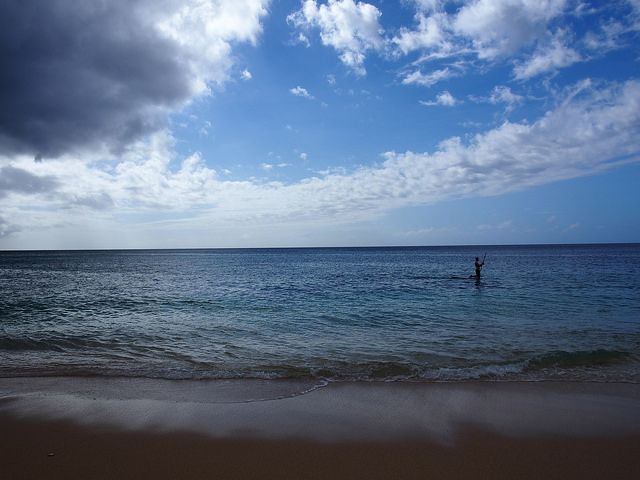 Hawaii sunset beach