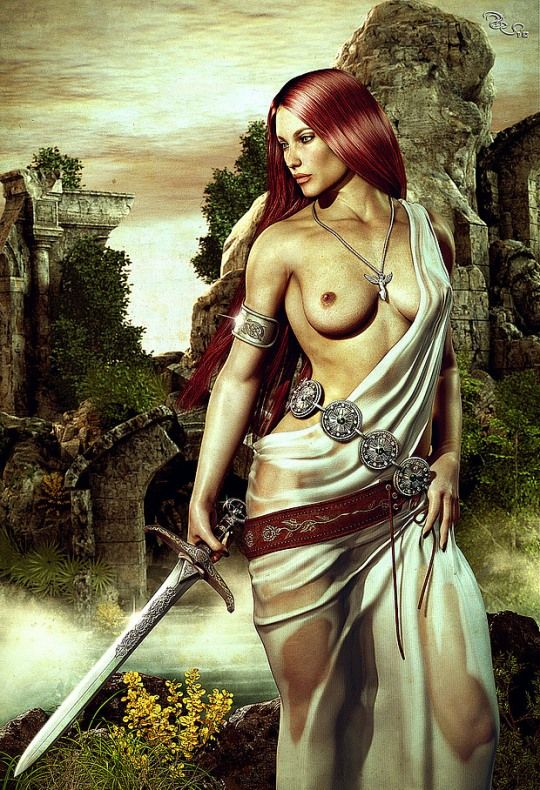 Love rebecca erotic woman warrior fantasy art