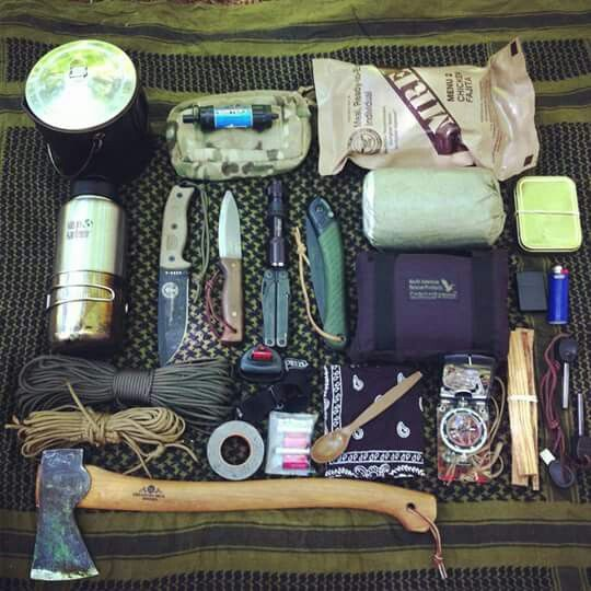 Bushcraft kit images galleries with a for Backpacking fishing kit