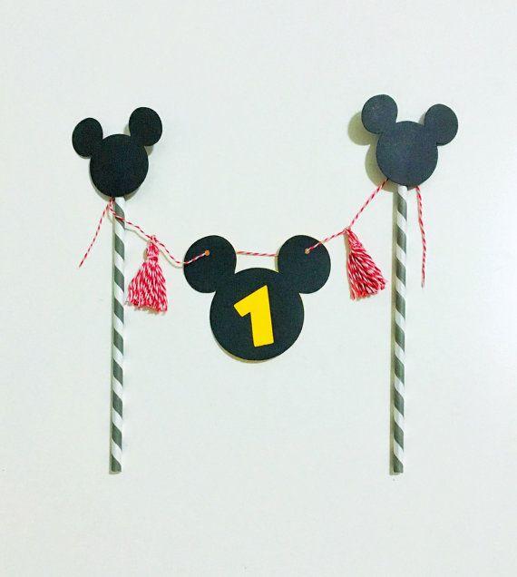 Mickey Mouse Cake Topper personalized by BridesWivesAndBabes