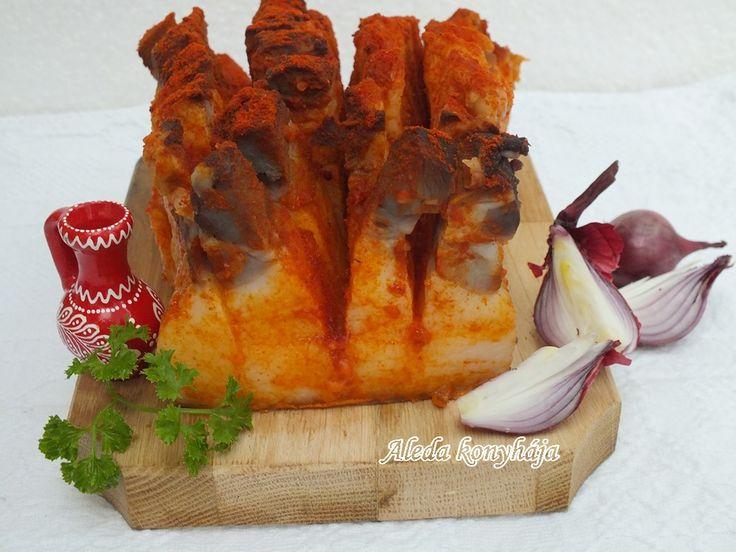 Aleda konyhája: Abált szalonnák