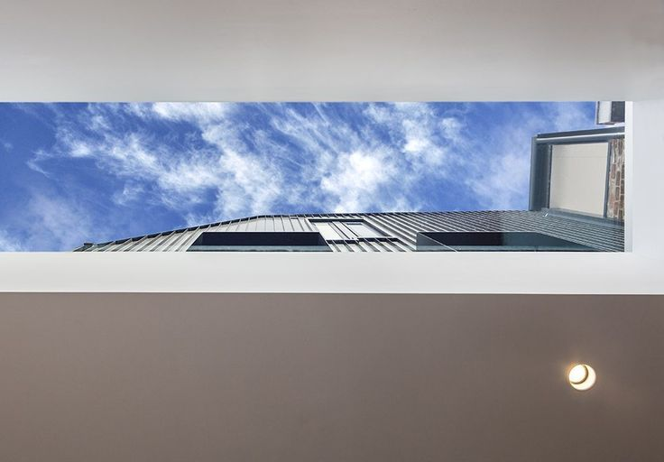 frame terrrace...linear skylight....