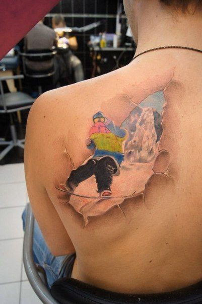 Tattoos For Skiing and Snowboard Lovers - Snowboard Warlord | Guff