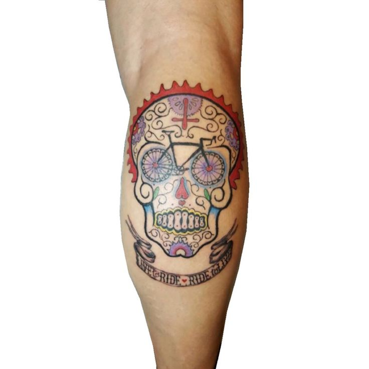 Cycology's 'Day of the Living' Skull artwork. Photo: Garcia Herando.