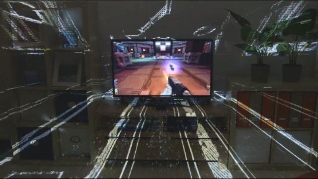 Comercial de TV do IllumiRoom do novo Xbox 720  http://nerdpride.com.br/game/comercial-de-tv-do-illumiroom-do-novo-xbox-720/    O IllumiRoom é um projeto usado para transformar sua sala em um campo de batalha