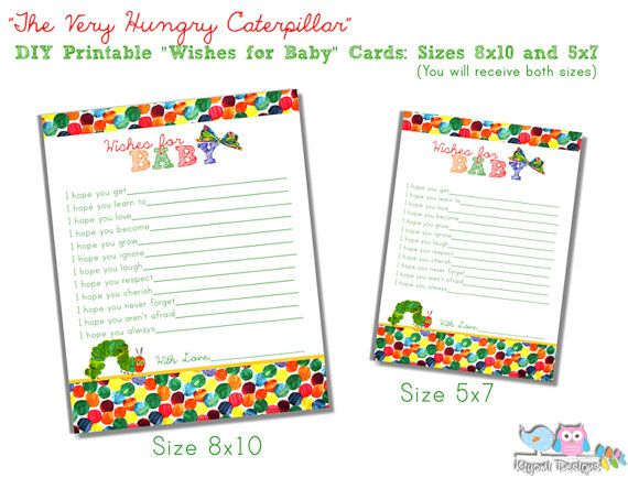 46 best betta's hungry caterpillar party images on pinterest, Baby shower invitations