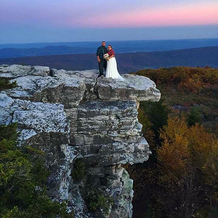 Dolly Sods wedding on Bear Rocks. Fall sunset West ...