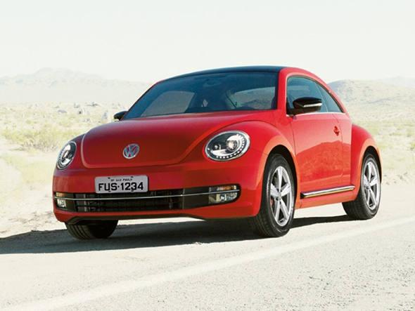 Novo Fusca da Volkswagen, cujo preço de lançamento no Brasil é de 76.600 reais.