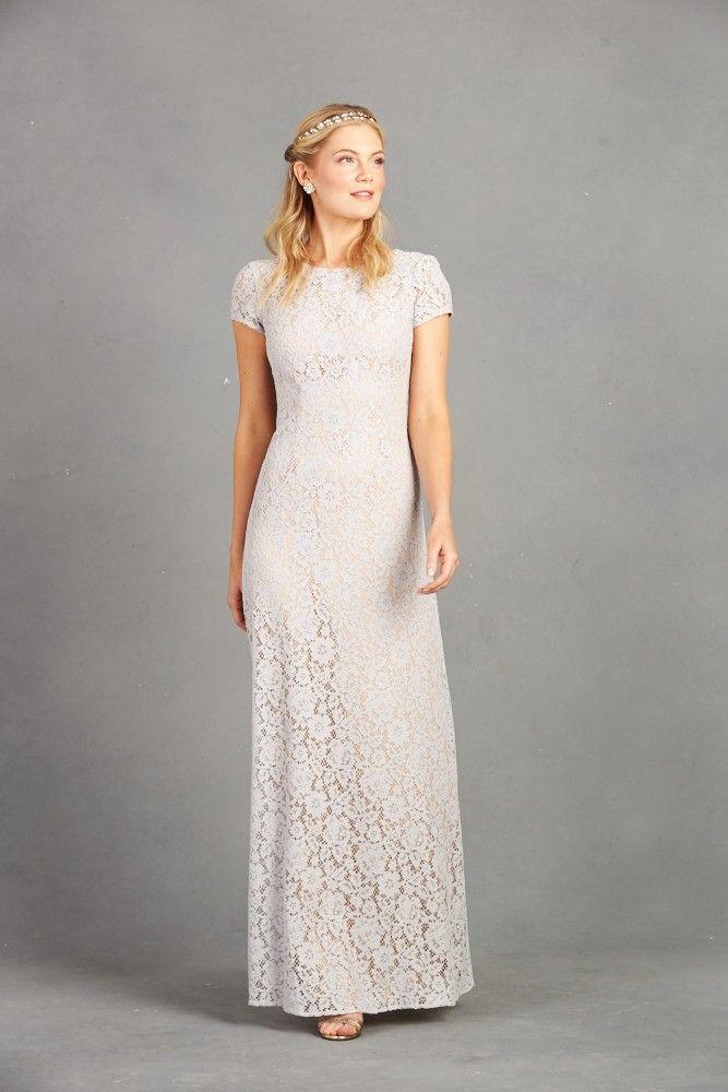 alice a-line gown platinum - donna morgan