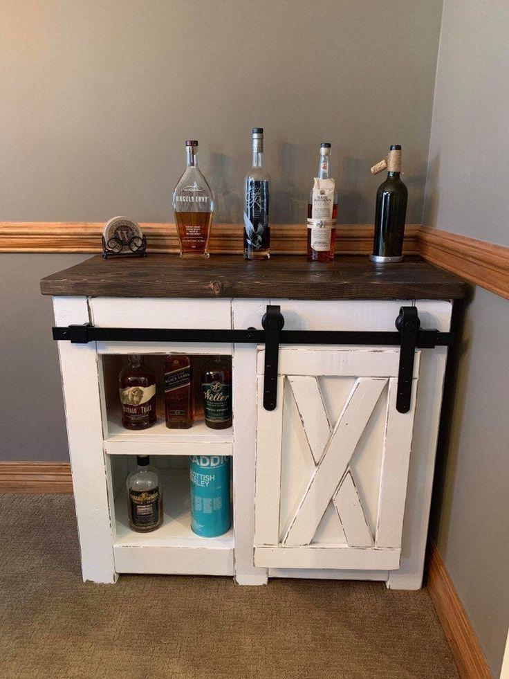 Farmhouse style Coffee bar with barn door slider ...
