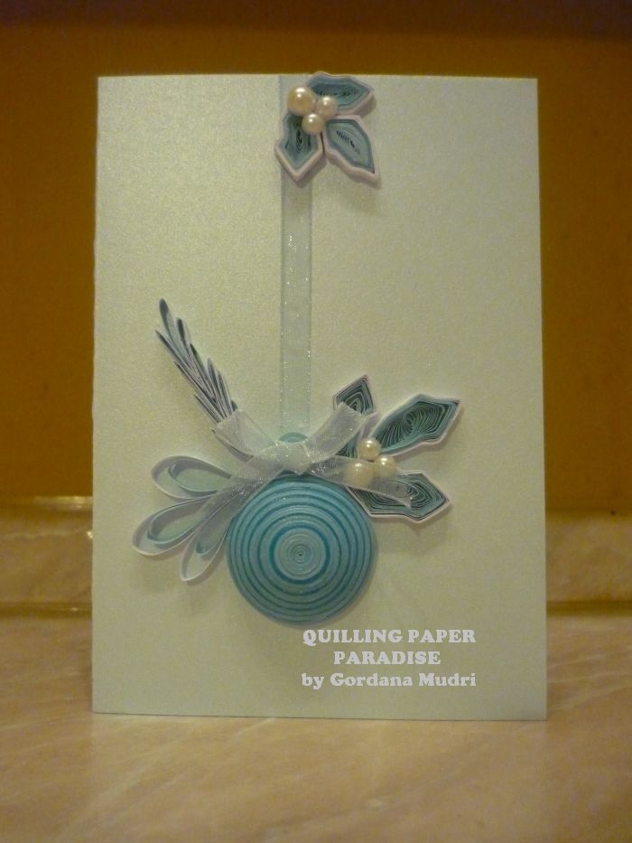 Quilled Paper Paradise -- ornament