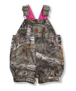 Loving this Carhartt Dark Brown Tree Camo Shortalls - Toddler on #zulily! #zulilyfinds
