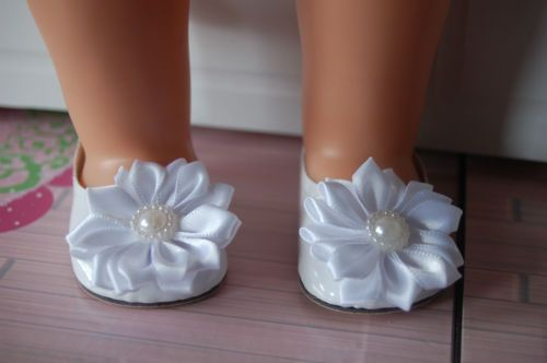 Puppenschuhe-weisse-Ballerina-Sohle-7cm-Puppenkleidung-46-50cm-Stehpuppe
