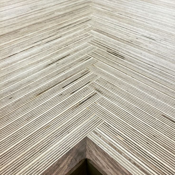 Baltic Birch Plywood Design For A Kitchen Counter Top. Herringbone Design  At The Crease With