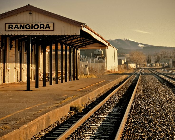 RANGIORA, Christchurch .  Railway Station. A bit like the Wild West really, but without the outlaws. If you want the train to stop wave it down or preferably phone up a few hours before and make a request.