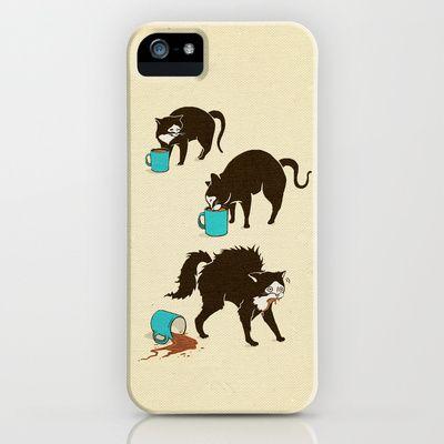 Coffee Cat iPhone 5s Case