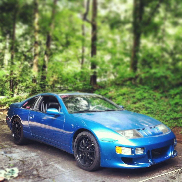 300zx Turbo Slammed: Blue 1993 Nissan 300zx. Girl Built And Driven By Me
