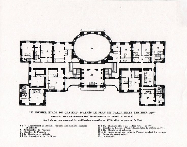 Chateau De Vaux Le Vicomte First Floor Plan