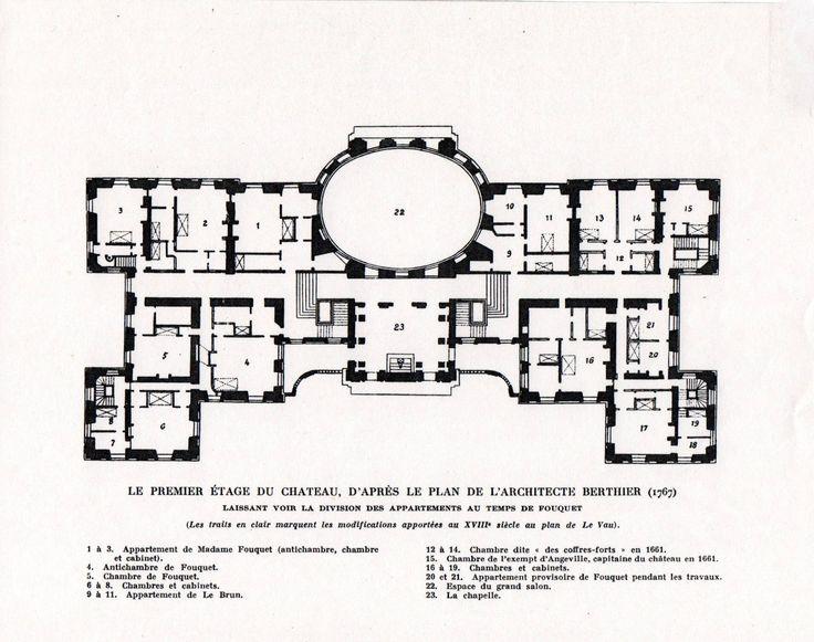 Chateau De Vaux Le Vicomte First Floor Plan