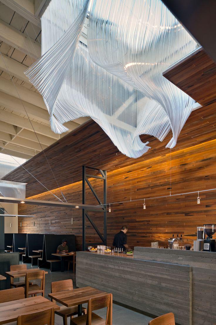 Glass sculpture by Nikolas Weinstein of Weinstein Studios - San Fransisco, Bar Agricole.