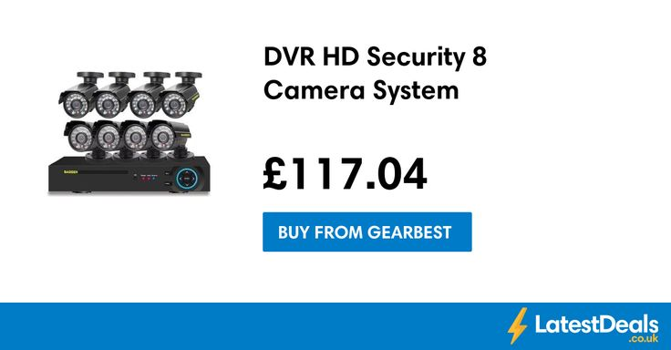 DVR HD Security 8 Camera System, £117.04 at Gearbest