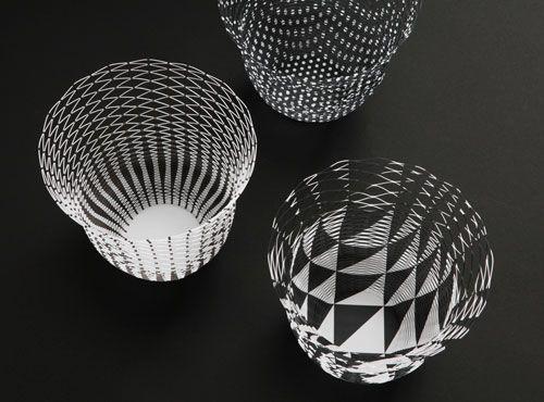 かみぐ(Designed by トラフ設計事務所) : 空気の器 ブラック & ホワイトパターン | Sumally (サマリー)