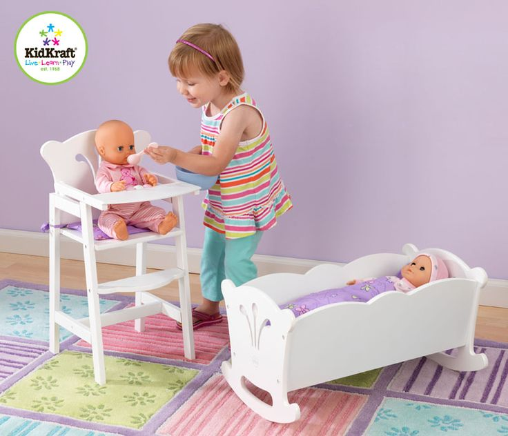 Your little girl will love this cradle for their dolls! #toddler #toy #babydoll