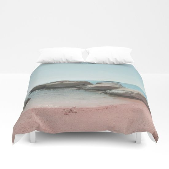 Beach Duvet Cover and Comforters 41 pastel colors on @society6 . BEACH, NATURE, LANDSCAPE, PHOTOGRAPHY, DIGITAL, ROCKS, ISLAND, SUMMER, CYAN, PINK, SAND, TRAVEL, EXPLORE, WANDERLUST, SOCIETY6 , XIARI, SHORE, BEACH DAYS, DUVET COVER, ART PRINT, WALL TAPESTRIES