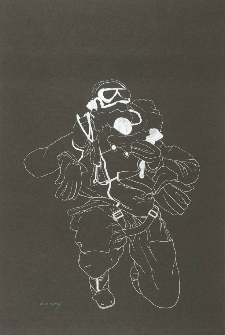 R.B. Kitaj 'Disciple of Bernstein and Kautsky', 1964 © The estate of R. B. Kitaj