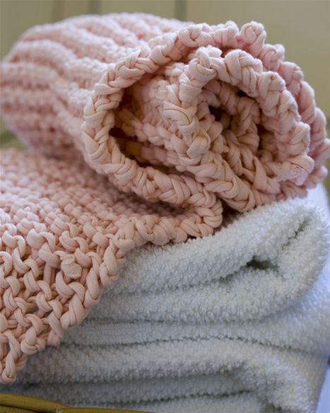 Fint strikket håndklæde