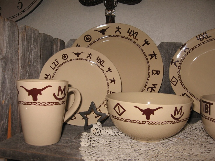 Cowboy dishes & 42 best Wallace western dishes images on Pinterest | Dinner ware ...