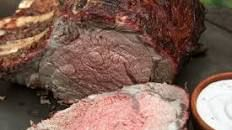 Smoked Prime Rib with Red Wine Steak Sauce Recipe | Bobby Flay | Food Network