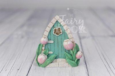 Aqua Pixie Door for the Gardening Fairies