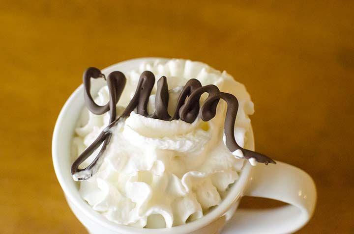 "Make frothy coffee at home and add chocolate garnishes as ""latte art."" EASY #recipe and #tutorial. #shop via @Meredith Dlatt @ unOriginal Mom"